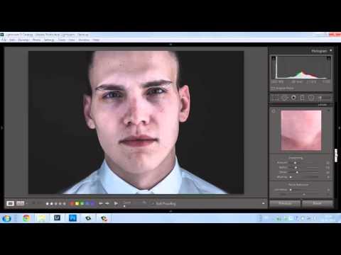 Обработка мужского портрета в lightroom и photoshop