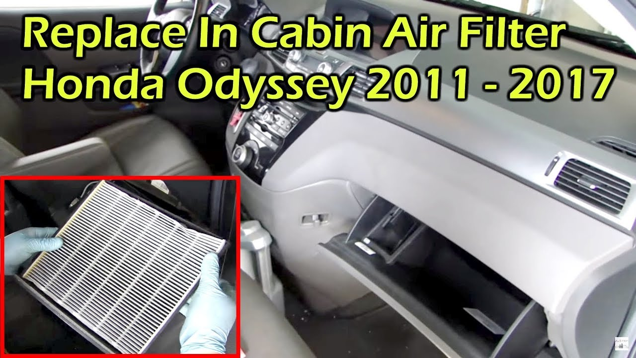 Honda Odyssey Change In Cabin Air Filter 2011 2017
