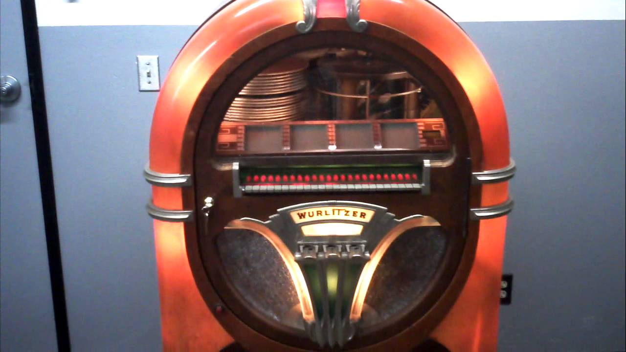 Wurlitzer 750 E Jukebox demo playing (for sale on eBay)