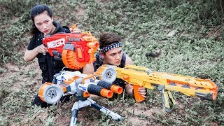 LTT Nerf War : SEAL X Special Mission Rescue Lover Use Sniper Skills Attack Criminal Group