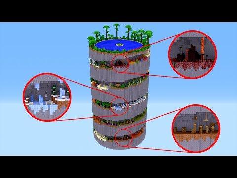 Minecraft: NESSA TORRE TODOS SÃO BIOMAS PAKOUR ‹ AMENIC ›