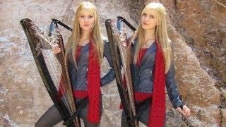 DOCTOR WHO Theme (Harp Twins electric) Camille and Kennerly