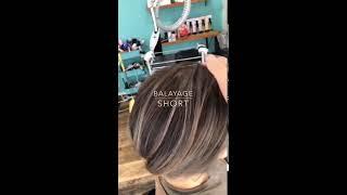 髪の流れをキレイに見せるバレイヤージュカラー