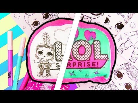 L.O.L. Suprise 3 Marker Challenge   Wundertüten Unboxing & Kissen bemalen   Überraschung