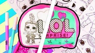 L.O.L. Suprise 3 Marker Challenge | Wundertüten Unboxing & Kissen bemalen | Überraschung