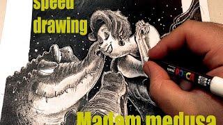 madam medusa speed drawing