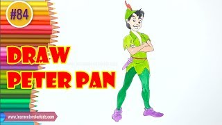 Step by Step Drawing tutorial on How to Draw Peter Pan #84
