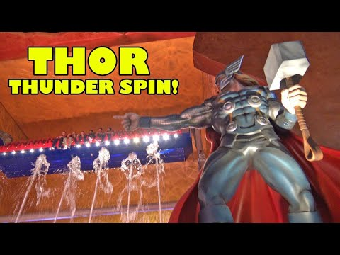 Thor Thunder Spin Ride | IMG's Worlds Of Adventure Dubai | Worlds Largest Theme Park | Scary as Hell