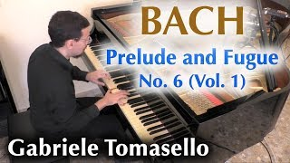 BACH Prelude and Fugue No. 6 in d minor, BWV 851 from WTC I Gabriele Tomasello