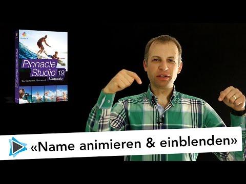 Name im Video animiert anzeigen als Bauchbinde - Insert - Pinnacle Studio Deutsch Video Tutorial