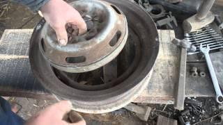 переделка дисков колес к мини трактору.Часть 2