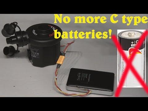 DIY: Hack an Intex air pump to run on a USB power bank