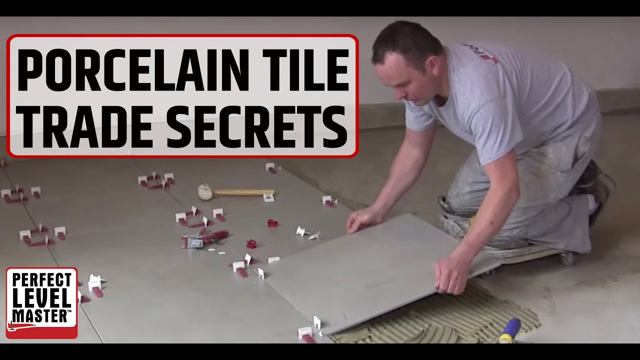 Trade secret porcelain tile  60 60cm 24 x in the garage floor and T Lock Tile spacers YouTube