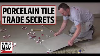 """Trade secret..porcelain tile (60-60cm) 24""""x 24""""in the garage floor and T-Lock™ Tile spacers"""