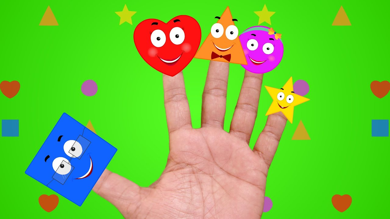 Shapes Finger Family | Nursery Rhymes - YouTube