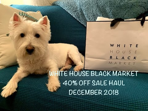 White House Black Market Haul - December 2018:  40% Off Sale!👚👖💜