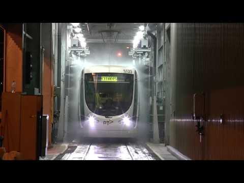 The Tram Wash Yarra Trams Southbank Depot Melbourne a unique view.