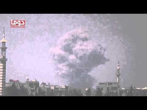 تنسيقية دوما : قصف بالطيران الحربي يستهدف حي جوبر الدمشقي 23/7/2014