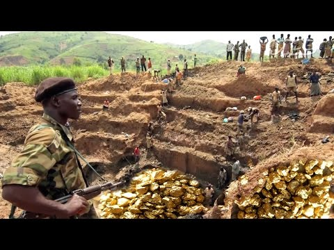 सोने की खानों की अनूठी दुनिया | Gold Mines - The Gold Miners Mining and processing Gold ore