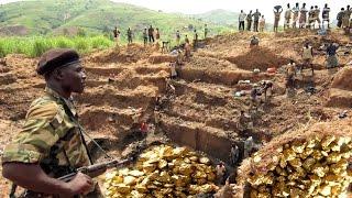 सोने की खानों की अनूठी दुनिया | Gold Mines - The Gold Miners Mining and processing Gold ore