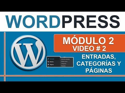 Entradas, categorías y páginas en Wordpress