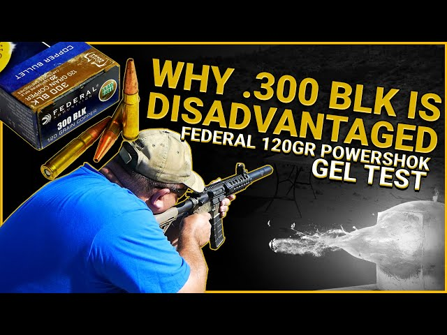 Why .300 Blackout Is Like a Disadvantaged Yoot: Federal 120gr PowerShok Gel Test