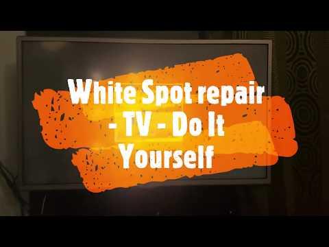 Fix White Spots on TV Screen