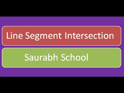 Programming Interview: Line Segment Intersection Algorithm
