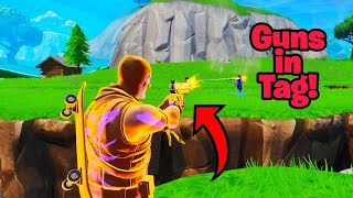 How to get GUNS IN TAG GAME MODE (OP) Fortnite Glitches Season 9