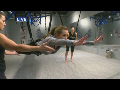 WCCO's Kylie Bearse Tries Out New Bungee Fitness Class