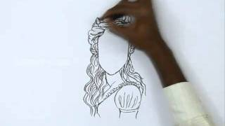 How to Draw Tangled Queen