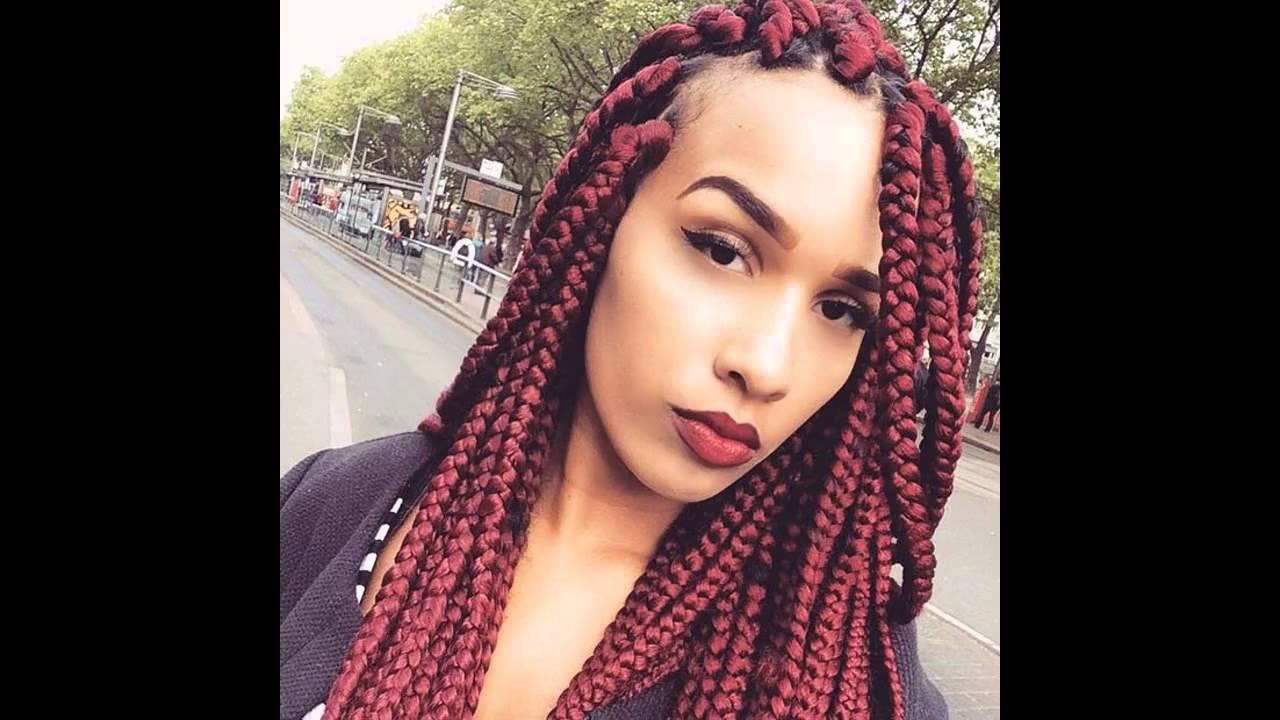 Hairstyles Braids Youtube: Big Box Braids Hairstyles