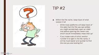 CWID 101 Ted Talks Organizational Skills