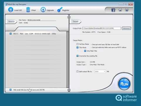 Let's have a look at WinX Blu-ray Decrypter