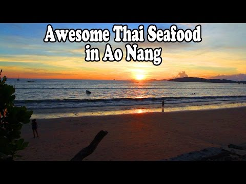 Ao Nang Krabi Seafood Restaurant. Amazing Sunset and Awesome Thai Food: The Crab Company