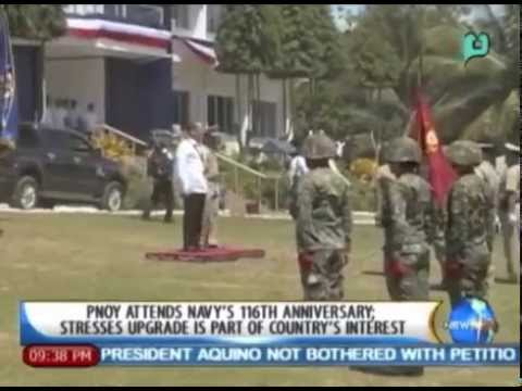 President Aquino attends Navy's 116th Anniversary; Stresses upgrade is part of country's interest