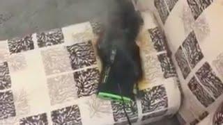 انفجر الشاحن المتنقل وبغى ينحرق البيت