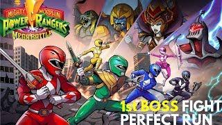 Mighty Morphin Power Rangers Mega Battle 1st Boss Fight | Perfect Run | Saban & Bandai Namco