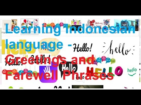 Learning indonesian language greetings and farewell phrases youtube learning indonesian language greetings and farewell phrases m4hsunfo