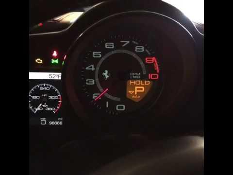 High Mileage 2017 Ferrari 458 Italia Cold Start