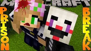 Minecraft PRISON BREAK - FIVE NIGHTS AT FREDDYS, LITTLE KELLY GETS TRAPPED BY THE PUPPET MASTER!!