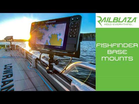 RAILBLAZA Fishfinder Base Mounts - For Boats, Inflatables, Canoes & Kayaks