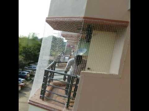Balcony safety nets,pigeon safety nets, monkey safety nets ...