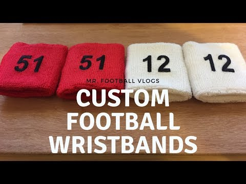 Mr. Football Vlog - Making Custom Wristbands for Viewers