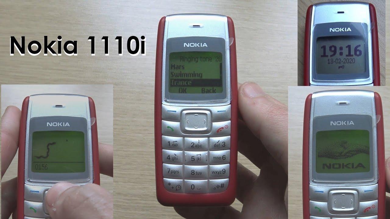 Nokia 1110i Review Original Ringtones Youtube
