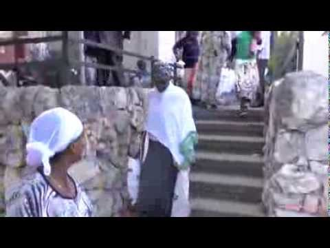 Ethiopian immigrants receive their packages