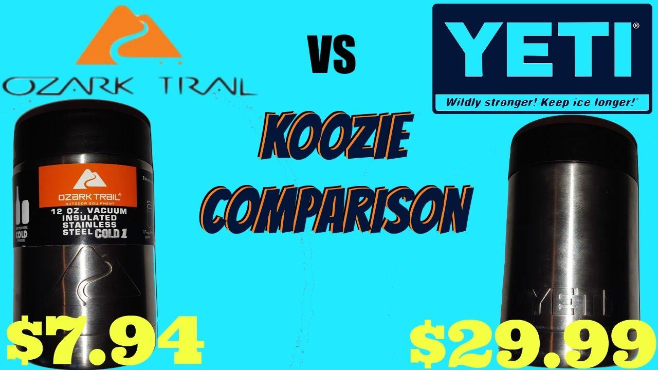 4e3df84814d YETI vs OZARK TRAIL KOOZIE COMPARISON - YouTube