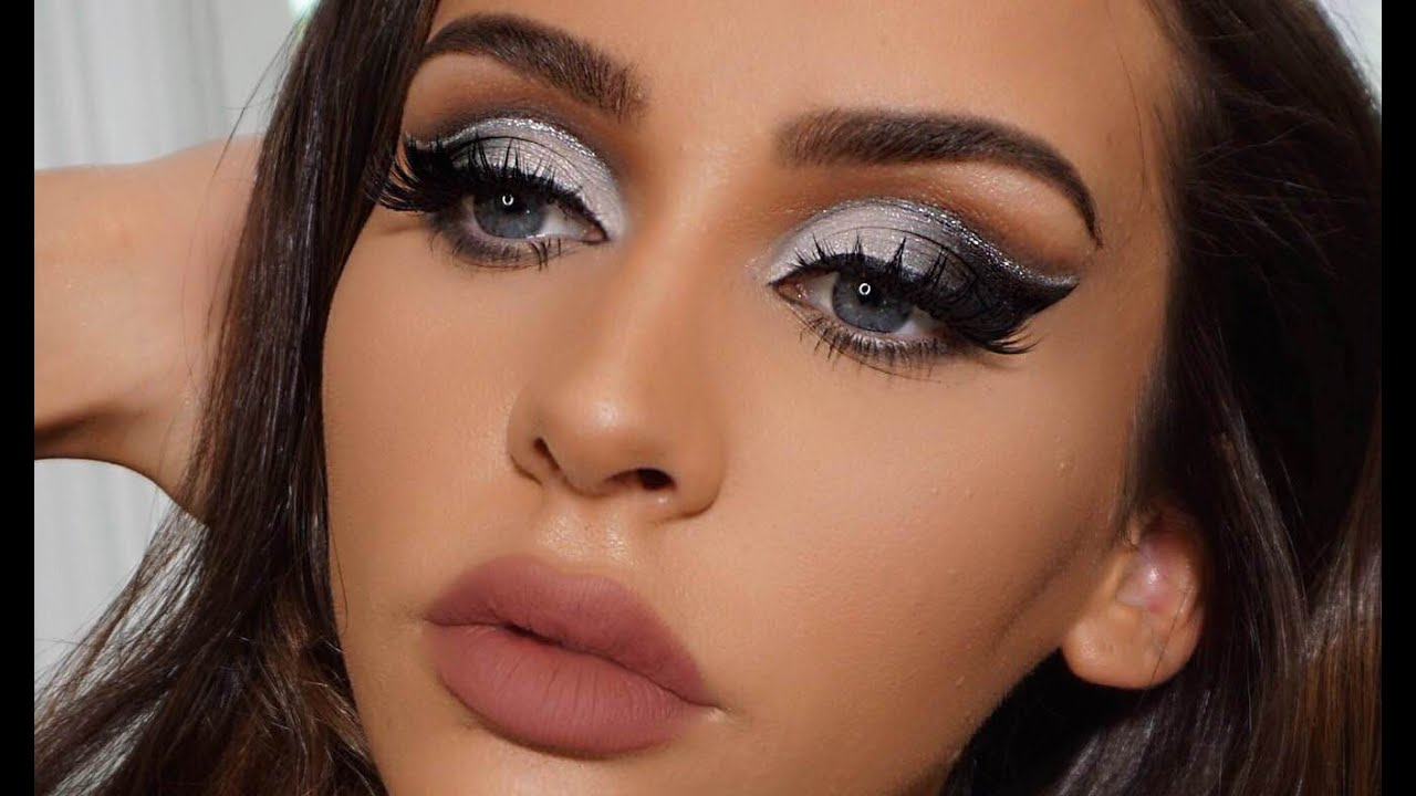 Black Amp Silver Cut Crease Makeup Tutorial Carli Bybel