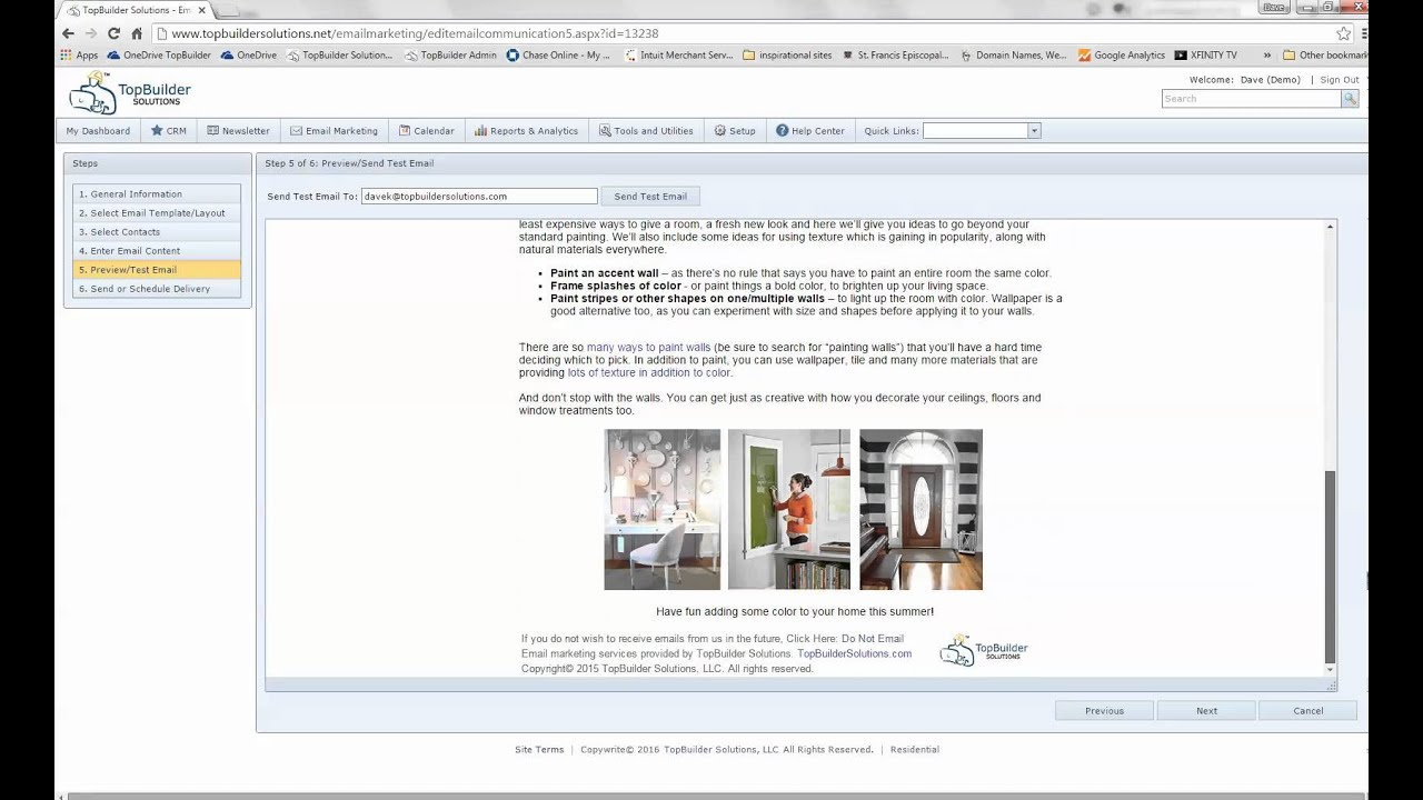 how to create an eflyer or email in a blank email template youtube