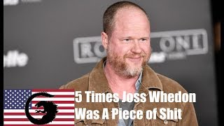 5 Times Liberal Joss Whedon Was a Piece of Shit